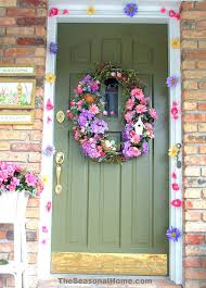 Spring Door Decorations Stunning Decorating Classroom S Flower Garland Full Size