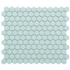 Home Depot Merola Penny Tile by Merola Tile Metro Hex Matte Light Blue 10 1 4 In X 11 3 4 In X 5