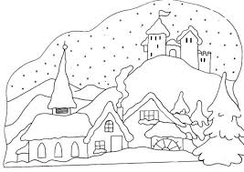 Free Winter Printable Coloring Pages Snowman Kid Scene Sports For Adults