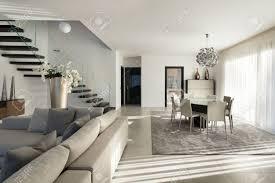 inter einer modernen wohnung gemütliches wohnzimmer