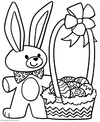 Easter Basket Coloring Pages 3