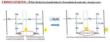 Acrylamide Condensate Poly Methacrylamide React And Loose A Molecule Of Water Leading To The Cross Linking Two Polymer Chains
