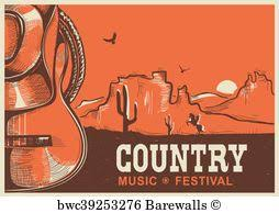 American Country Music Poster Art Print
