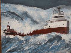 Edmund Fitzgerald Sinking Location by Edmund Fitzgerald And Crew Rare Footage Amateur Video Filmed