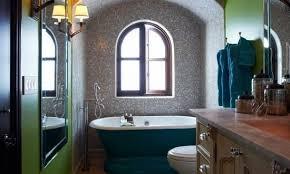 kleine und moderne badezimmer mit badewanne blau coole
