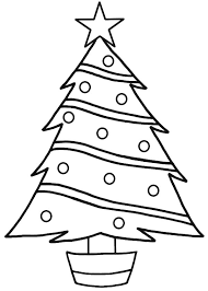 Christmas Trees Star On Top Coloring Pages