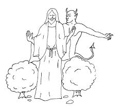 Bible Coloring Pages For Temptation Of Jesus