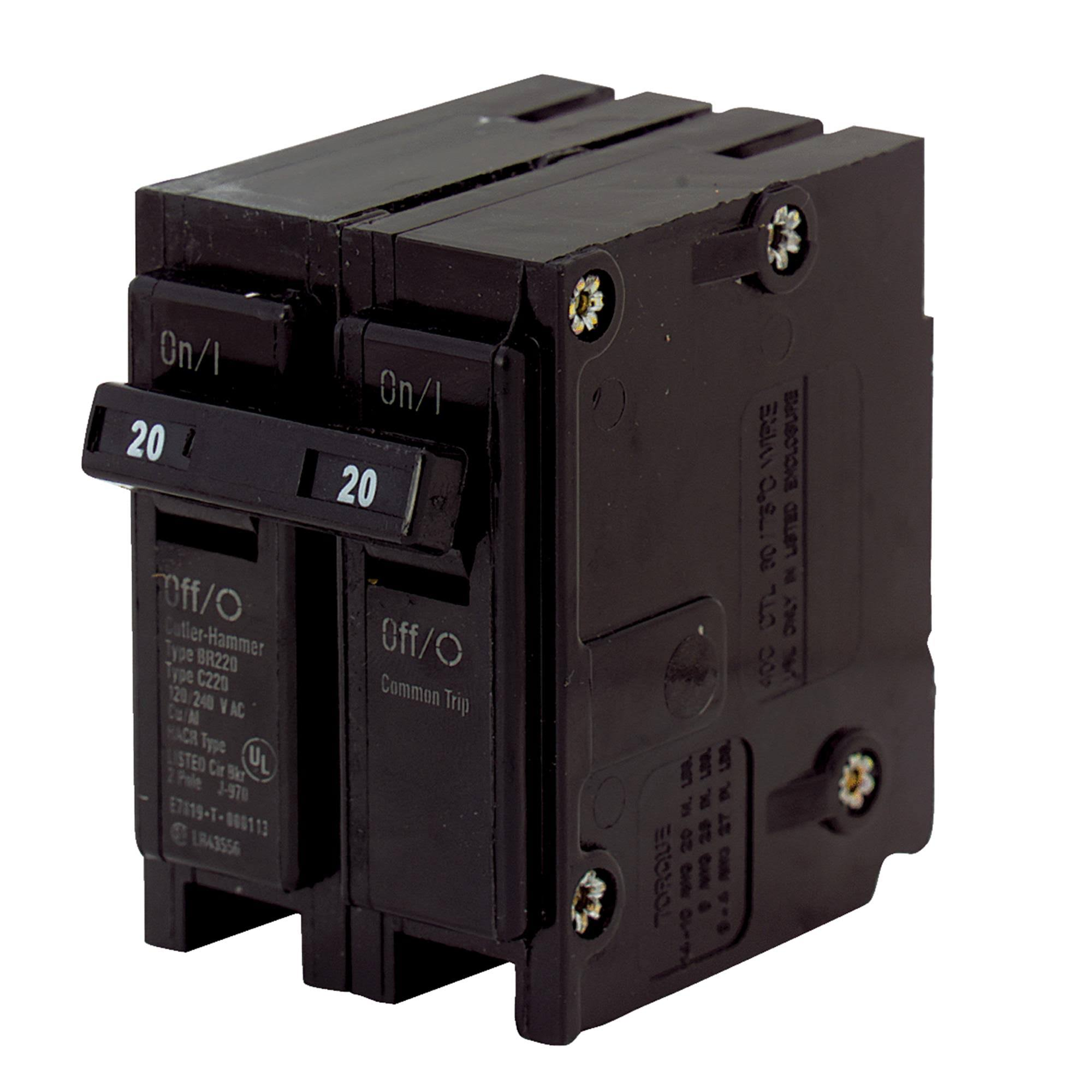 Eaton Double Pole Circuit Breaker - 20 Amp