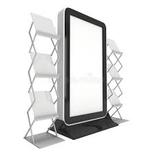 Download Trade Show Booth LCD TV Stand Stock Illustration