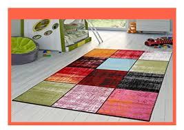 best buy t t design teppich karo rot schwarz grau gr n pink