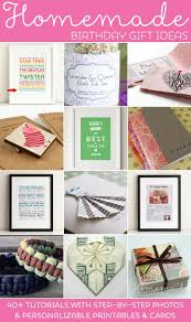 Creative Ideas For Homemade Birthday Gifts