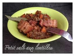 cuisine de lili recette petit sale au lentilles cookeo proposée par slili34 sur