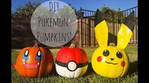 Pikachu Pumpkin Carving Patterns Free by Diy Easy Pokemon Pumpkins Youtube