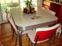 Home And Furniture Picturesque Retro Dining Table Set On Vintage 1950 S White Kitchen Or
