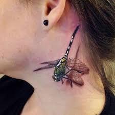 Dragonfly Neck Tattoo On TattooChief