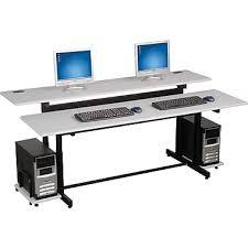 Staples Lap Desk Mahogany by Balt U0026reg Split Level Workstation 72