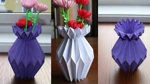 How To Make A Paper Flower Vase