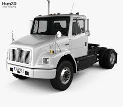 100 White Freightliner Trucks FL70 Tractor Truck 2003 3D Model Vehicles On Hum3D