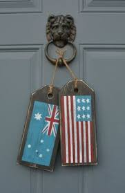 US Australian Flag Sign Rustic American By MoonenDavisdeSIGN