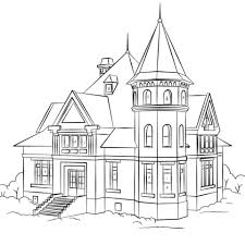 Victorian House Coloring Page