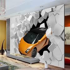 3D Sports Car Photo Wallpaper Giant Wall Mural Unique Design Bedroom Hallway Room Decor Sofa TV Setting Art Home Decoration