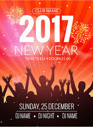 Download 2017 Nyew Year Party Dance People Background Vector Event Flyer Poster Design Stock