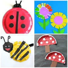 Easy Paper Plate Spring Crafts For Kids