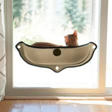 Heated Dog Beds Walmart by K U0026h Pet Products Ez Mount Window Cat Bed Small Brown Walmart Com
