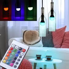 business industrie beleuchtung 2er set rgb led glas