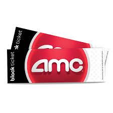 AMC Black Movie Ticket Vouchers, 2 Pk