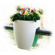 High Quality Plastic Balcony Railing Planter White