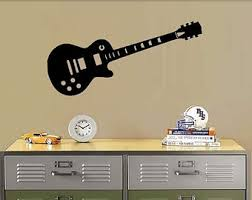 Guitar Wall Art Decal Electric Room Decoration Music