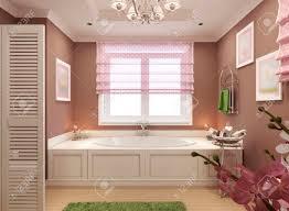 klassisches badezimmer für mädchen 3d render