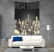 100 New York Style Bedroom Polyester Tapestry Wall Hanging Grunge Pop Art Retro