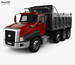 Caterpillar CT660 Dump Truck 4-axle 2011 3d Model   Commercial ...