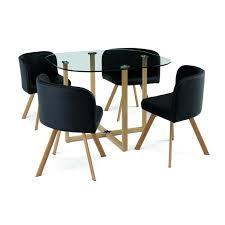 ensemble table 4 chaises encastrable noir flen achat vente