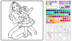 Barbie Coloring Book Game Online