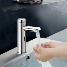 Touchless Bathroom Faucet With Temperature Control by Brass Cold Touch Free Infrared Basin Tap Automatic Sensor Faucet