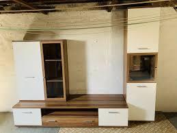 wohnwand wohnzimmer möbel tv lowboard hängeschrank vitrine