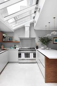 Lighting For Sloped Ceilings by 25 Captivating Ideas For Kitchens With Skylights