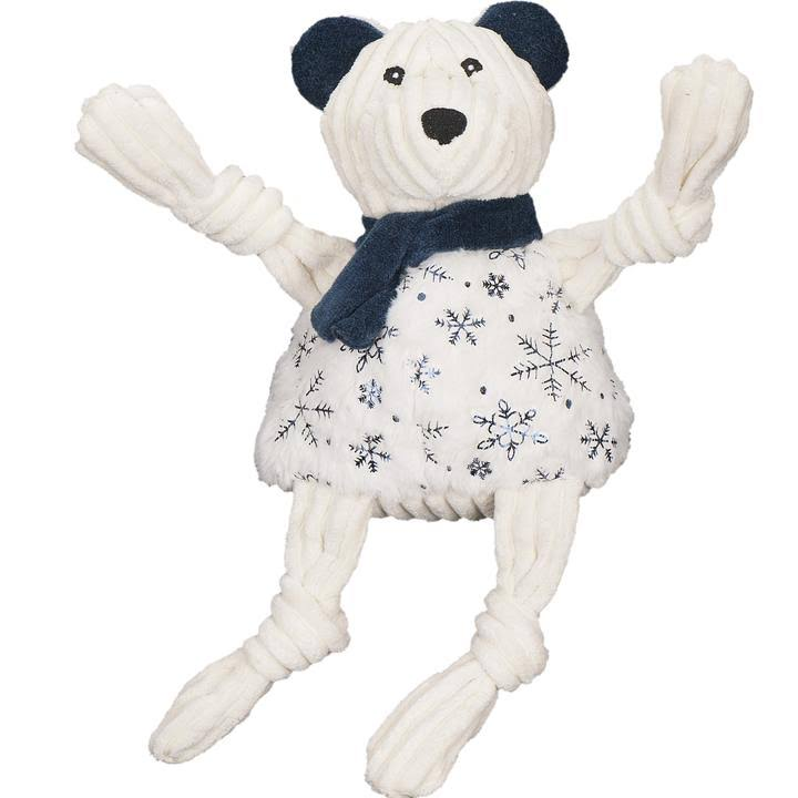 Hugglehounds Holiday Sparkle N' Shine Knottie Dog Toy - Bear - Small