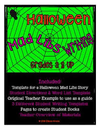 Halloween Mad Libs For 3rd Grade by 520 Best Halloween Activities Images On Pinterest Anchors