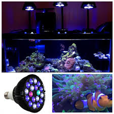 18w led aquarium light bulb par38 e27 6 band spectrum for