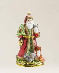Dillards Christmas Decorations 2013 by Woodland Santa Blown Glass Ornament Christmas Decor Ideas