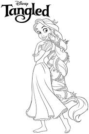 Disney Princess Coloring Pages Ariel In A Dress Baby Tangled Free Printable For To Print