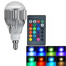 lifebee 10w e14 rgb led colour changing bulb dimmable 16 colour