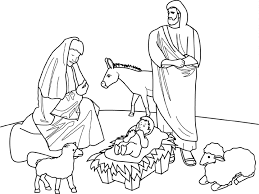 Free Christmas Coloring Pages Religious
