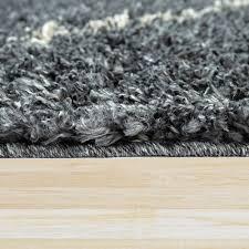 teppiche shaggy teppich grau wohnzimmer hochflor anthrazit