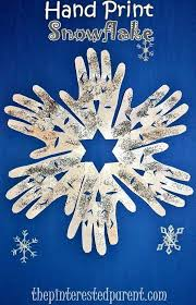 Hand Print Snowflake Craft