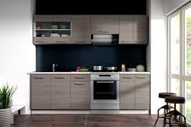 küche dave 240 cm küchenzeile küchenblock variabel stellbar in eiche sonoma trüffel